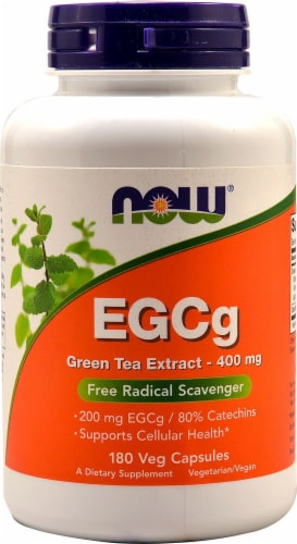 NOW  EGCg Green Tea Extract Perspective: front