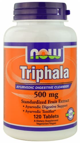 NOW Foods Triphala Tablets 500mg Perspective: front