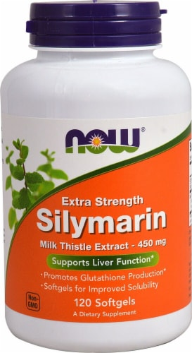 NOW Foods  Extra Strength Silymarin Milk Thistle Extract Perspective: front