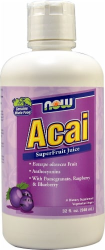 NOW Foods Acai Superfruit Juice Perspective: front