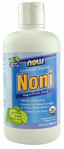 NOW Foods  Organic Noni Superfruit Juice Perspective: front