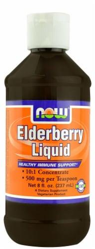 NOW Foods  Elderberry Liquid Perspective: front