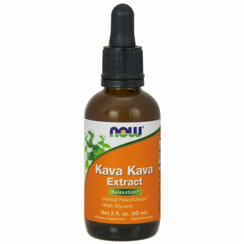 NOW Foods Kava Kava Extract Relaxation Dietary Supplement Perspective: front