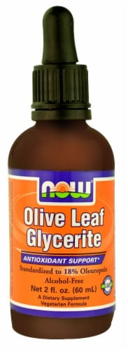 NOW Foods  Olive Leaf Glycerite Perspective: front