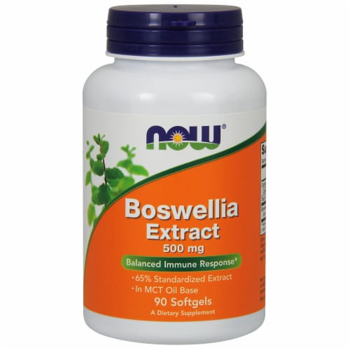 NOW Foods Boswellia Extract Softgels 500mg Perspective: front