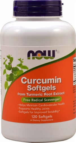 NOW Foods  Curcumin Softgels Perspective: front