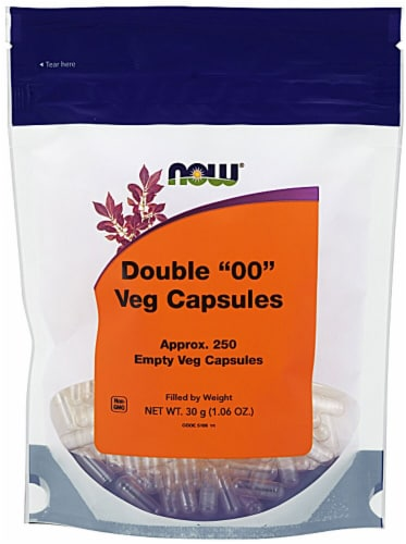 NOW Foods  Healthy Foods VCAPS™ Double 00 Perspective: front