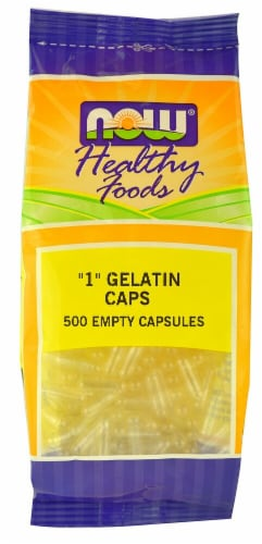 "NOW Healthy Foods ""1"" Empty Gelatin Caps Perspective: front"