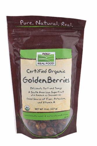 NOW   Real Food™ Certified Organic GoldenBerries Perspective: front