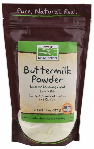 NOW Foods  Real Food™ Buttermilk Powder Perspective: front
