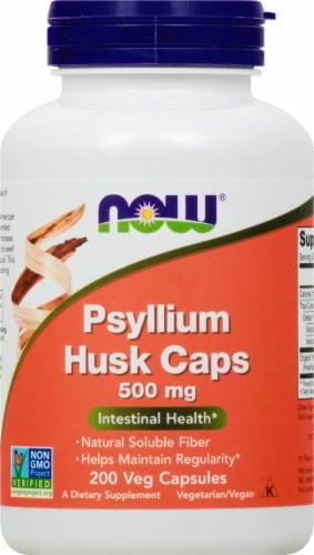 NOW Psyllium Husk Caps 500mg Perspective: front