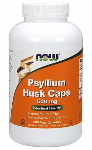 NOW   Psyllium Husk Caps Perspective: front