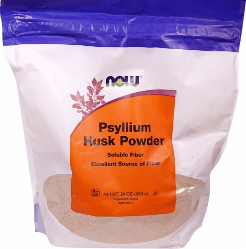 NOW   Psyllium Husk Powder Perspective: front