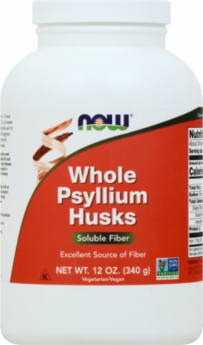 NOW Whole Psyllium Husks Perspective: front
