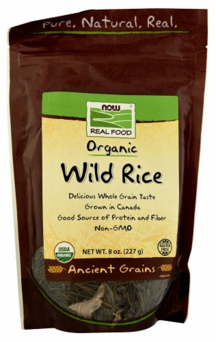 NOW   Real Food® Organic Wild Rice Perspective: front