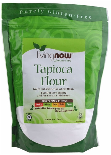 NOW  Real Food™ Organic Tapioca Flour Perspective: front
