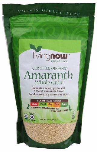 NOW  Livingnow™ Organic Amaranth Whole Grain Perspective: front