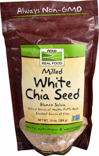 NOW Foods  Real Food® White Chia Seed Milled Perspective: front