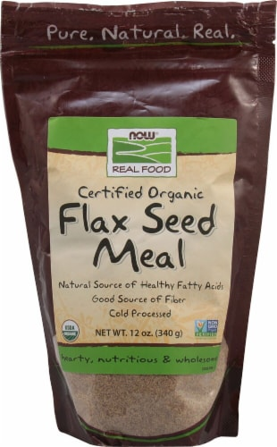 NOW Foods  Real Food Organic Flax Seed Meal Perspective: front