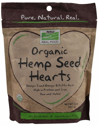 NOW  Real Food™ Organic Hemp Seed Hearts Perspective: front