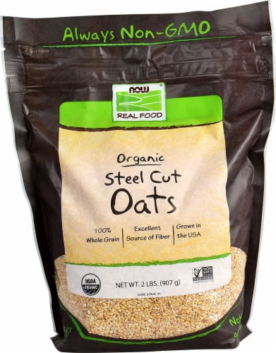 NOW   Real Food™ Organic Steel Cut Oats Perspective: front