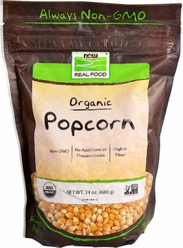 NOW   Real Food™ Certified Organic Popcorn Perspective: front