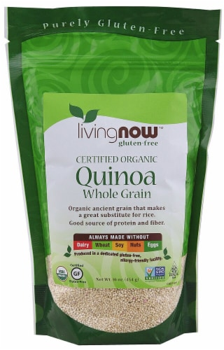 NOW Foods  Livingnow™ Organic Quinoa Whole Grain Perspective: front