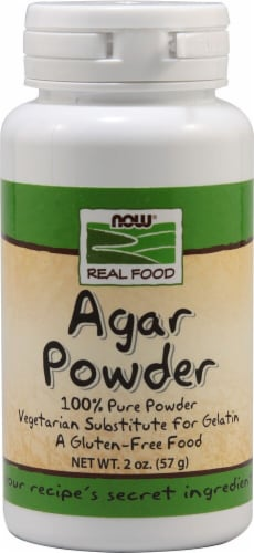 NOW  Real Food Agar Powder Perspective: front