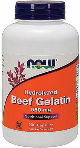 NOW Foods  Hydrolyzed Beef Gelatin Perspective: front
