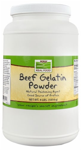 NOW  Real Food Beef Gelatin Powder Perspective: front