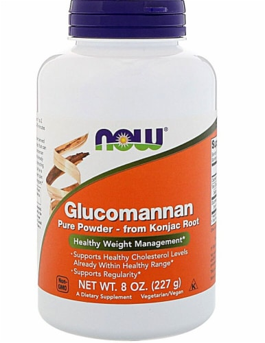 NOW Foods  Glucomannan Pure Powder Perspective: front