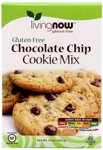 NOW Foods  Livingnow™ Cookie Mix Gluten Free   Chocolate Chip Perspective: front