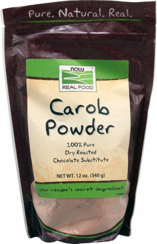 NOW   Real Food Carob Powder Perspective: front