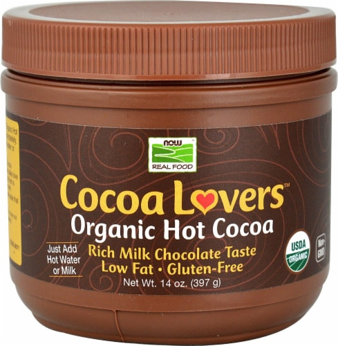 NOW Foods  Cocoa Lovers™ Organic Hot Cocoa Perspective: front