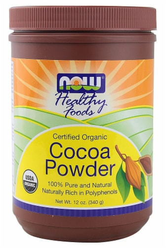 NOW   Real Foods Organic Cocoa Powder Perspective: front