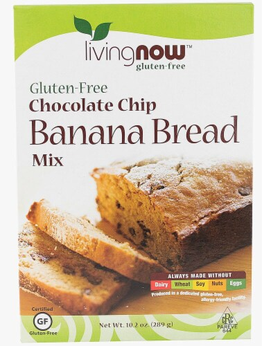 NOW Foods  Livingnow™ Banana Bread Mix   Chocolate Chip Perspective: front