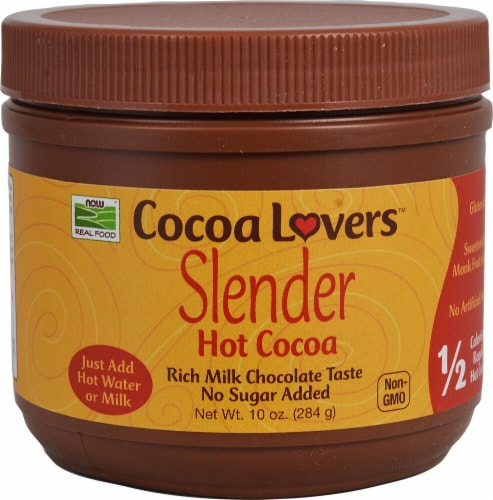 NOW Foods  Cocoa Lovers™ Slender Hot Cocoa   Milk Chocolate Perspective: front