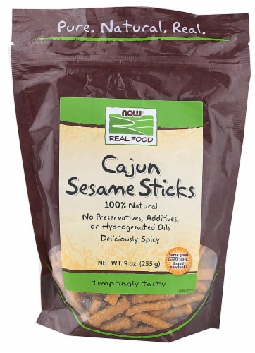 NOW  Real Food Cajun Sesame Sticks Perspective: front