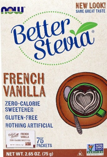 NOW Foods  BetterStevia®   French Vanilla Perspective: front