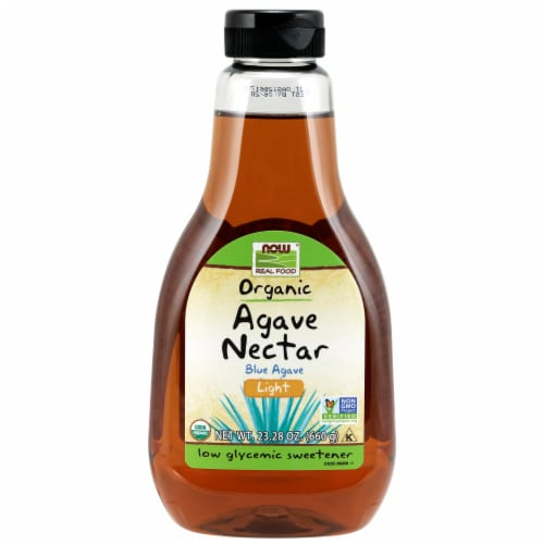 NOW Foods Organic Light Blue Agave Nectar Perspective: front