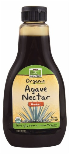 NOW   Real Food Organic Agave Nectar Amber Perspective: front