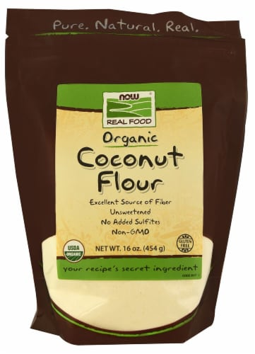 NOW Foods  Real Food Organic Coconut Flour Perspective: front