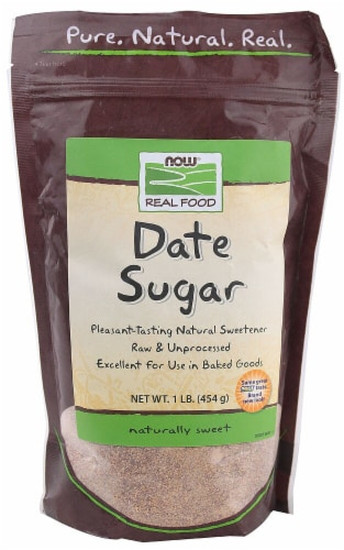 NOW Foods Real Food Date Sugar Perspective: front