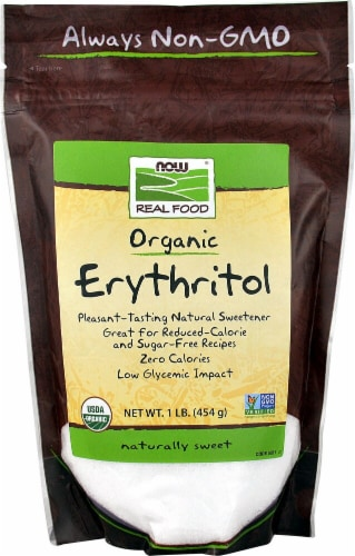 NOW Foods  Organic Erythritol Natural Sweetener Perspective: front