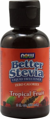 NOW Foods  BetterStevia™ Liquid Sweetener   Tropical Fruit Perspective: front