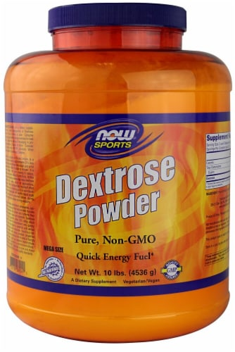 NOW   Sports Dextrose Powder Perspective: front