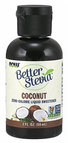 NOW Foods  BetterStevia™ Liquid Sweetener   Coconut Perspective: front
