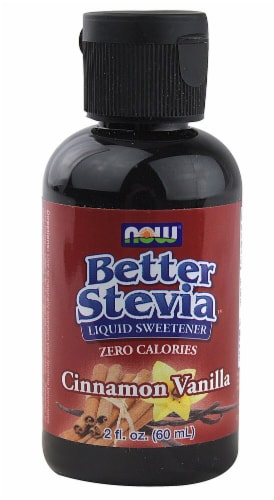 NOW  BetterStevia™ Liquid Sweetener   Cinnamon Vanilla Perspective: front