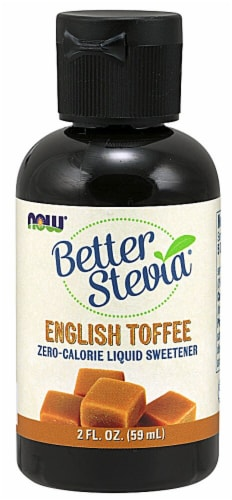 NOW  BetterStevia™ Liquid Sweetener   English Toffee Perspective: front