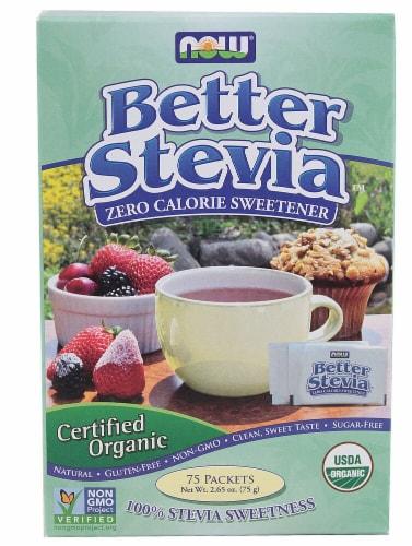 NOW  BetterStevia™ Organic Zero Calorie Sweetener Perspective: front